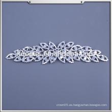 Applique diseños de trabajo para los vestidos / al por mayor coser en Bling Wedding nupcial Rhinestone Applique