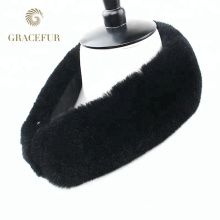 Proveedor de China en línea de compras Collar de piel de conejo rex de piel real barato para abrigos