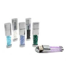Glitter Batom de Cristal USB com Multicolors 2GB, 4GB, 8GB