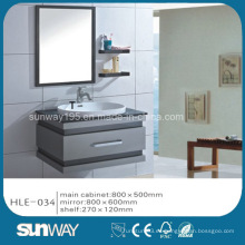 Venta caliente espejo de plata de acero inoxidable de lujo gabinete de tocador de baño