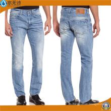 Pantalones vaqueros al por mayor directos de la fábrica compran en la cintura alta Jean rasgado rasgado a granel