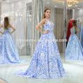 Nouvelle robe bleue de robe de boule de v