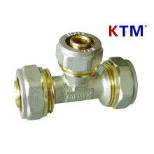Instalación de tubería de latón - T de reducción de tubería Pex-Al-Pex (tubería de plástico de aluminio)