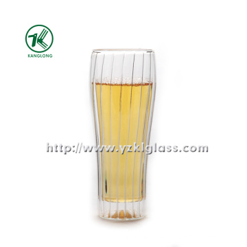Double Wall Glass Bottle by BV, SGS, (Dia7.3cm, H: 17.8cm, 330ml)