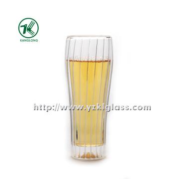 Garrafa de vidro de parede dupla por BV, SGS, (Dia7.3cm, H: 17.8cm, 330ml)