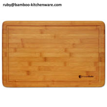 Simple Fruit Juice Groove Bamboo Wooden Cutting Board Chopping Board Kitchen Block Tools
