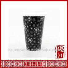 11 унций керамическая кружка путешествия кремниевая крышка, двойная стенка кофейная чашка