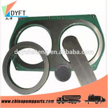 concrete machinery parts carbide spectacle wear plate and wear ring for sany concrete pumps trailer pumps manufactures