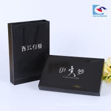 China Hersteller benutzerdefinierte schwarz elegante Design Kleidung Verpackung Papier Box