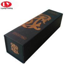 Folding magnet good quality luxury single bottle wine box