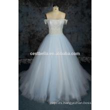 China fábrica de fotos de muestra real alibaba alibaba vestido de boda azul claro