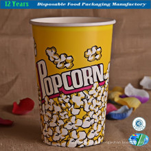 Popcorn Bowl Großer Papiercontainer, Wiederverwendbare Tube Movie Theater Eimer
