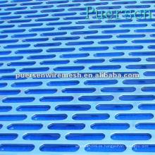 Hojas de metal perforadas / perforadas de acero de bajo carbono (Factory + Compny)