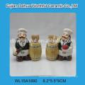 Ceramic chef toothpick holder for kitchen