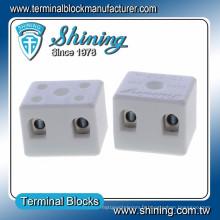 TC-202-A Thermocouple 600V 20A Connecteur de fil en céramique 2 broches
