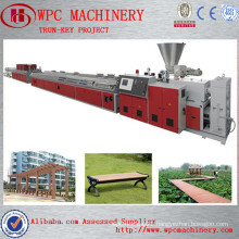 WPC Floor twin screw extruder machine plastic/wood floor making machine/wood plastic composite production line