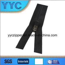 3# Open End Nylon Zipper with Leather Puller