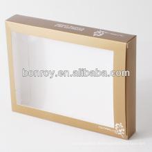 Gedruckte klare PVC-Fenster Box Verpackung mit benutzerdefinierten Stil