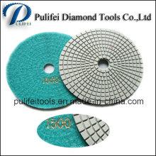 Tampon de polissage de diamant de machines-outils de main pour le béton de granit de marbre
