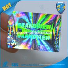 Sticker d'hologramme 3d autocollant personnalisé d'autocollant d'hologramme