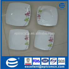hotel&restaurant lastest dinner set with popular design square crokery for hotel