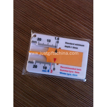 Promotional Tire Depth Gauge Key Tag Logo Printed
