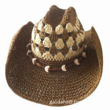 Women's cowboy hat with decorations, various designs are available, OEM/customized logos welcomed