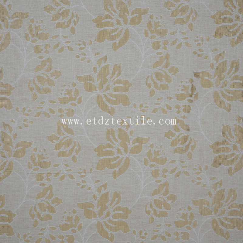 2015 Top Sell American Prefer Linen Like Curtain Fabric XS2029 Golden