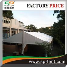 Grande tente de stockage industrielle en solide cadre en aluminium et tissu résistant à l'eau pour plus de 8 ans de vie professionnelle