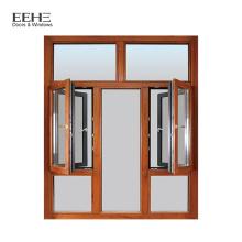 Fenêtre en aluminium de vente chaude pour le meilleur prix des cadres de fenêtre en bois conceptions de 2016 dernière conception de gril pour fenêtre
