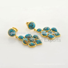 Beautiful Turquoise Gemstone Vermeil 925 Sterling Silver Jewelry Manufacturer
