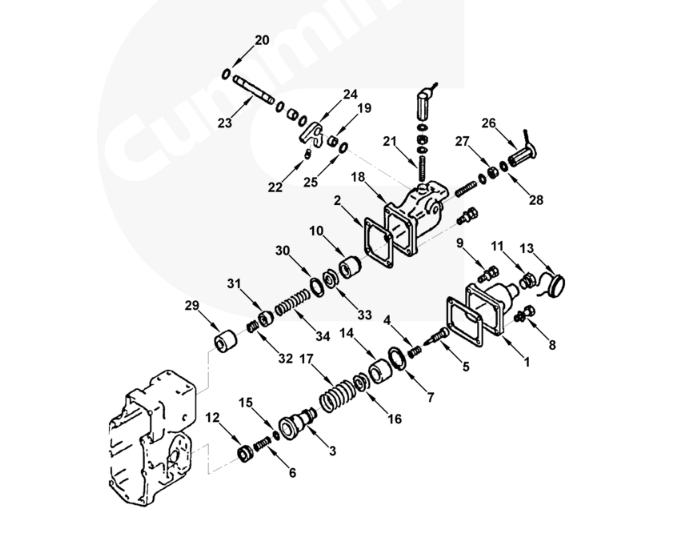 CUMMINS PT Pump Governor Mounting Spacer 203346