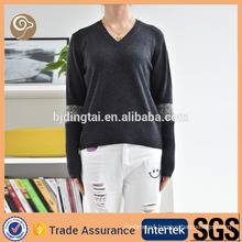 Knitted pullover fashion 12gg cashmere sweater ladies