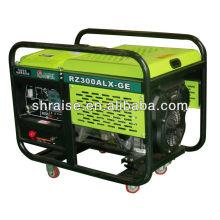 Groupe électrogène de machine à souder à essence électrique 100 ~ 300A pour vente chaude