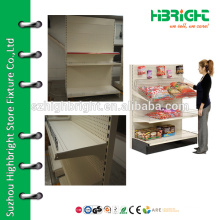 single side puch back panel supermarket shelf