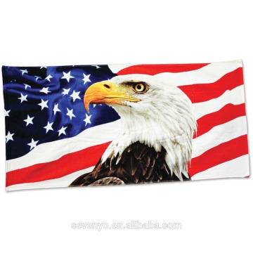 Wholesale 30*60' American Eagle Beach towel BT-526 China Supplier