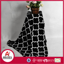 Printed new design 100% polyester printed coral fleece blanket