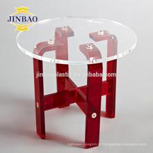 Jinbao moderno cristal casa pmma material mobiliário nova mesa de acrílico