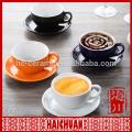 Bamboo pattern ceramic coffee /tea cup & saucer