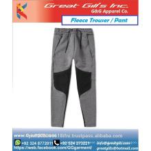 Calça de moletom skiny estilo moda 2016, calças de lã de algodão com fundo de corrida cônico personalizado