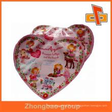 Papel de aluminio con forma de corazón bolsas de plástico con impresión para caramelos o bocadillos paquete