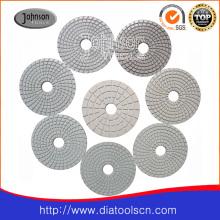 Coussin de polissage blanc 100 mm blanc pour granit