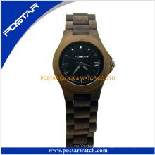 Novo estilo promocional presente de madeira relógio de senhoras relógio de quartzo
