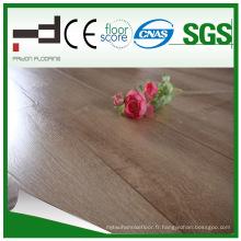 Revêtement de sol stratifié de finition embossée de 12 mm pour salle de séjour