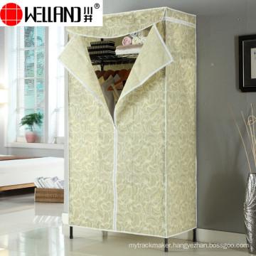 Modern Design Bedroom Furniture Assemble Non-Woven Fabric Wardrobe
