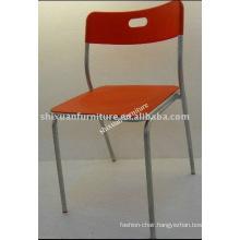 modern plastic folding steel tube chair