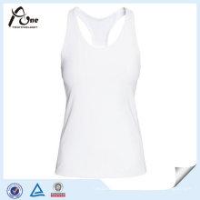 Camisola de alças branca da mulher feita sob encomenda do logotipo do fabricante de China