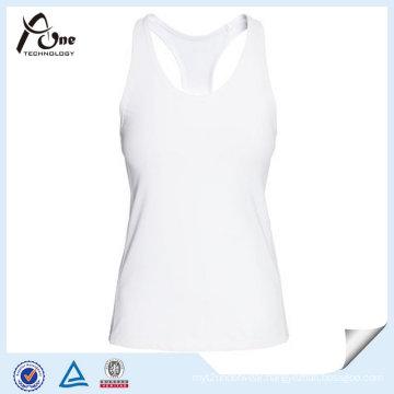 Custom Logo Woman White Tank Top From China Manufacturer