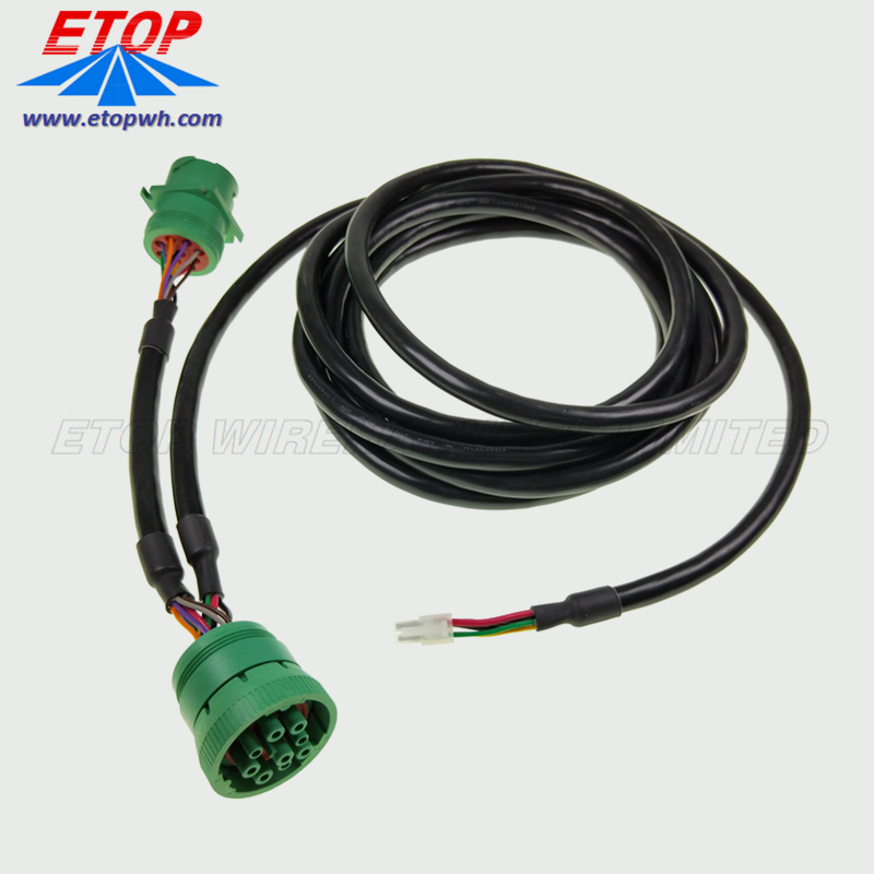diagnostic cable with J1939 green connector