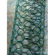 Malla de alambre hexagonal de PVC-revestido 2''x0.66mmx1.5mx50m
